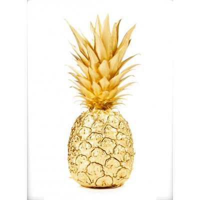 Poster - Guld ananas 50x70
