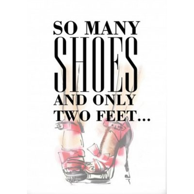 Poster - Shoes 50x70